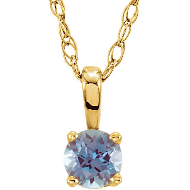 14KT Yellow Gold Chatham Created Alexandrite