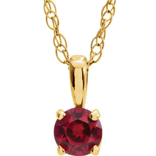 14KT Yellow Gold Chatham Created Ruby