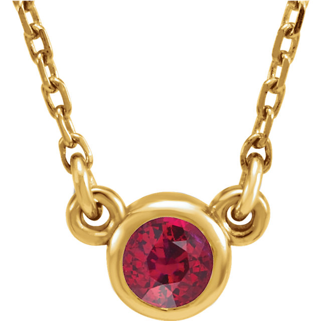14KT Yellow Gold Chatham Created Ruby 16