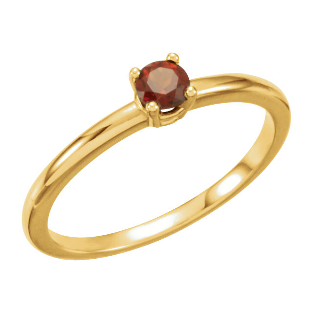 14KT Yellow Gold Garnet Mozambique