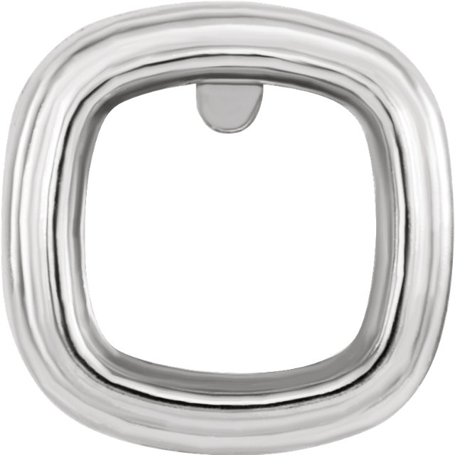 Back-Set Bezel Earring Mounting For Antique Square Shape Centergems Sized 5.00 mm to 10.00 mm - Customize Metal or Gem Type