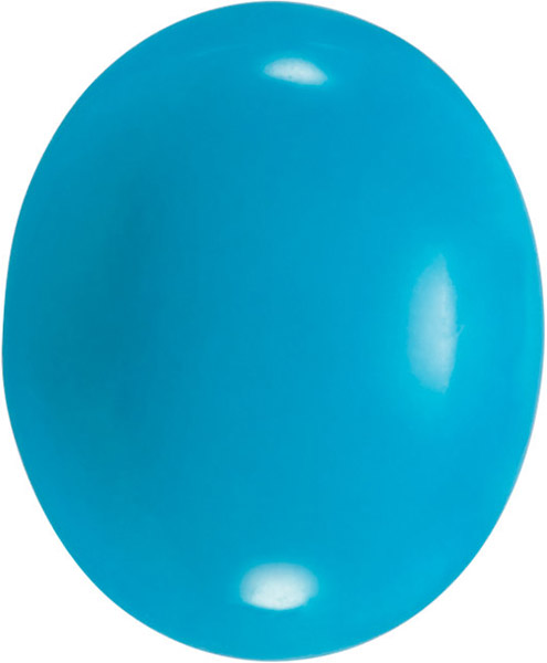 Bluebird Turquoise in Oval - Calibrated Sizes