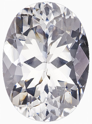 Bright, White & Lively Gem for SALE - Great Value for a Colorless Stone, Oval Cut, 14.49 carats