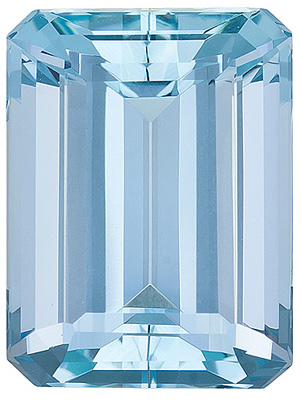 Clean and Lively, Excellent Cut Aquamarine Natural Gem from Brazil, Emerald Cut, 11.85 Carats