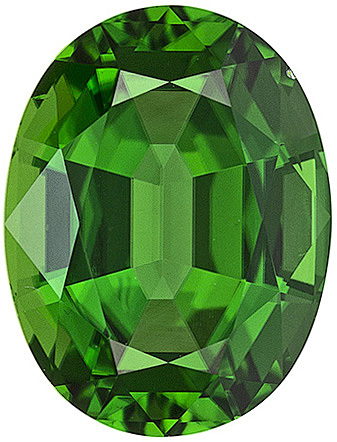Oval Cut Genuine Tsavorite Garnet in Grade AAA