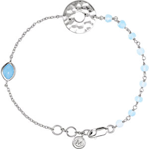 Sterling Silver Blue Chalcedony 7.5