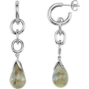 Sterling Silver Labradorite Earrings with Box