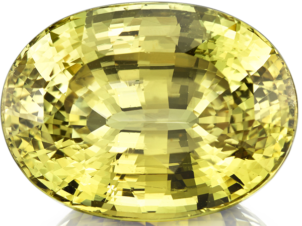 Stunning Greenish Yellow Color in Genuine Chrysoberyl Loose Gem in Oval Cut, 20.25 x 15.16 mm, 28.03 carats with GIA Certificate - SOLD