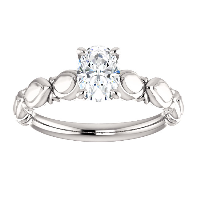 14KT White Gold Forever Classic Moissanite Engagement Ring