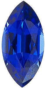 Imitation Blue Sapphire Marquise Cut Stones