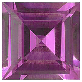 Imitation Pink Tourmaline Princess Cut Gems
