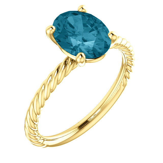 14KT Yellow Gold London Blue Topaz Ring