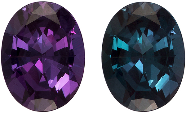 Great Buy on Alexandrite Loose Gem, Wow Color Change Rich Blue Green to Vivid Burgundy, 6.8 x 5.2 mm, 0.80 carats - GIA Certified