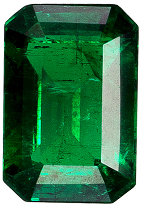 Bright & Lively Emerald Cut Emerald Loose Gem, Vivid Rich Green Color in 6 x 4 mm, 0.57 carats