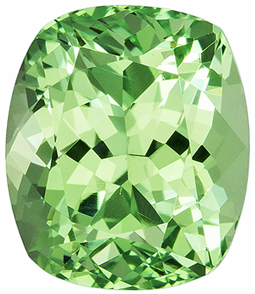Neony Mint Green Cushion Cut Garnet Loose Gem, Neony Mint Green Color in 7.8 x 6.7 mm, 2.16 carats