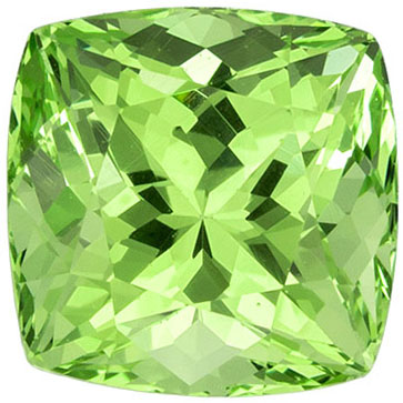 Fiery Garnet Gemstone in Cushion Cut in Mint Green, 5.9 x 5.8 mm, 1.45 carats