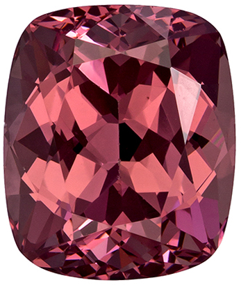 Rare Cushion Cut Garnet Loose Gem, Peachy Copper, 8.2 x 6.9 mm, 2.7 carats