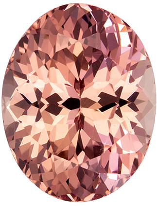 Mahenge Material Garnet Gemstone in Oval Cut, Vivid Medium Peach, 9.1 x 7.1 mm, 2.62 carats