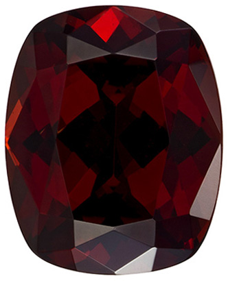 Very Pretty Cushion Cut Garnet Loose Gem, Vivid Rich Red, 10 x 8.1 mm, 3.59 carats
