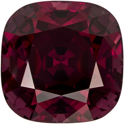 Beautiful Cushion Cut Rhodolite Loose Gem, Reddish Raspberry, 9.4 mm, 5.8 carats