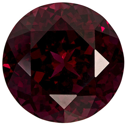 Very Impressive Rhodolite Gemstone in Round Cut, Intense Reddish Raspberry, 12.2 mm, 8.54 carats