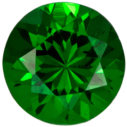 Very Pretty Round Cut Tsavorite Loose Gem, Rich Grass Green, 4.8 mm, 0.54 carats