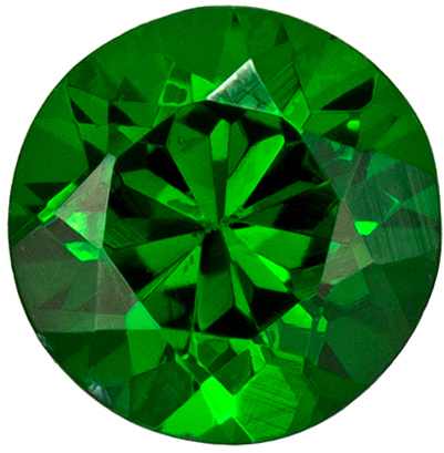 Very Bright Round Cut Tsavorite Loose Gem, Medium Grass Green, 4.9 mm, 0.58 carats