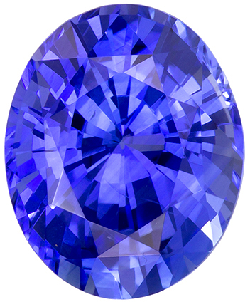 Very Attractive Blue Sapphire Gemstone in Oval Cut, Medium Rich Blue, 9.9 x 8.1 mm, 3.26 carats