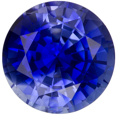 Highly Requested Blue Sapphire Gemstone in Round Cut, Medium Blue, 6.1 mm, 1.11 carats