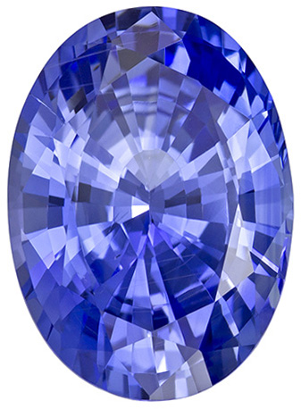 Attractive No Heat Blue Sapphire Gemstone in Oval Cut, Cornflower Blue, 13.9 x 10.1 mm, 7.22 carats - GIA Certified