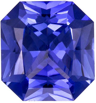 Very Pretty Unheated Blue Sapphire Gemstone in Radiant Cut, Rich Cornflower Blue, 6 x 5.6 mm, 0.91 carats - GIA Certified