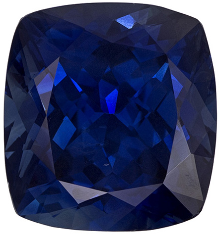 Very Impressive Cushion Cut Blue Sapphire Loose Gem, Teal Tinged Rich Blue, 13.6 x 12.6 mm, 11.84 carats - GIA Certified