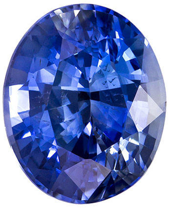 Attractive Unheated Oval Cut Blue Sapphire Loose Gem, Rich Blue, 8.5 x 7.0 mm, 2.23 carats - GIA Certified
