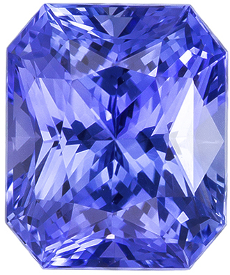Attractive Untreated Radiant Cut Blue Sapphire Loose Gem, Cornflower Blue, 7.4 x 6.2 mm, 2.14 carats - GIA Certified