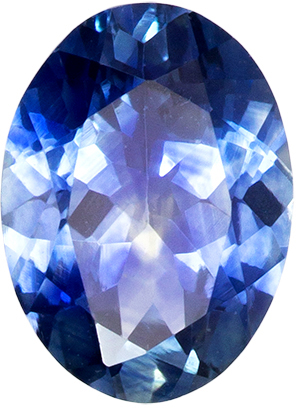 Bright & Lively Blue Green Sapphire Gemstone in Oval Cut, Medium Rich Blue, 6.8 x 5 mm, 0.88 carats