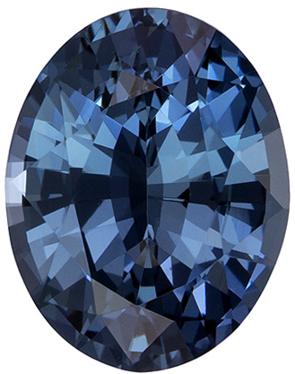 Very Beautiful Blue Green Sapphire Gemstone in Oval Cut, Rich Teal Blue, 8.1 x 6.3 mm, 1.57 carats