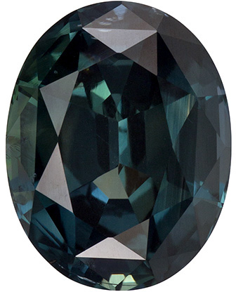 Wonderful Blue Green Sapphire Gemstone in Oval Cut, Teal Blue Green, 10.8 x 8.4 mm, 4.32 carats