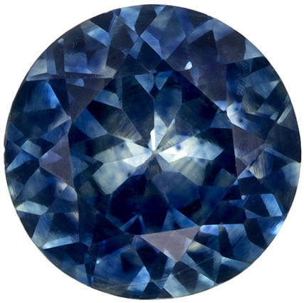 Bright & Lively Round Cut Blue Green Sapphire Loose Gem, Rich Teal Blue, 5.5 mm, 0.77 carats