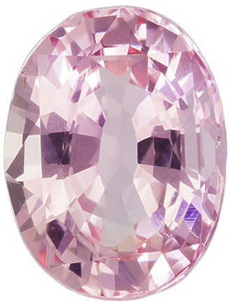 Pleasing Unheated Oval Cut Padparadscha Sapphire Loose Gem, Pink Orange, 7.3 x 5.5 mm, 1.14 carats - GIA Certified