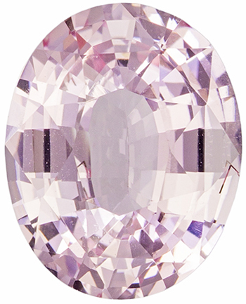 Wonderful Untreated Oval Cut Peach Sapphire Loose Gem, Light Peach, 9.0 x 7.2 mm, 2.11 carats - GIA Certified
