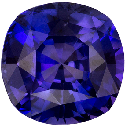 Very Pretty Purple Sapphire Gemstone in Cushion Cut, Rich Violet Purple, 5.7 mm, 1.08 carats