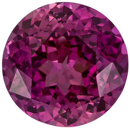 Bright & Lively Round Cut Pink Sapphire Loose Gem, Rose Tinged Pink, 7.1 mm, 1.89 carats