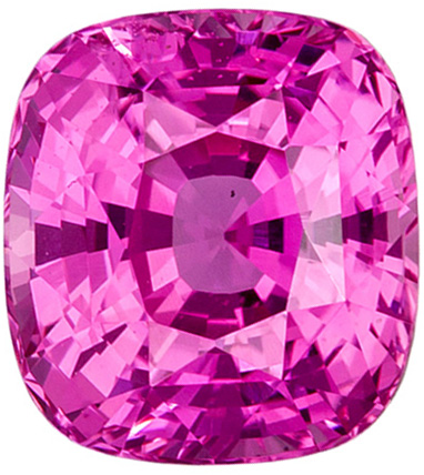 Gorgeous Untreated Cushion Cut Pink Sapphire Loose Gem, Rich Pink, 7.2 x 6.6 mm, 2.15 carats - GIA Certified