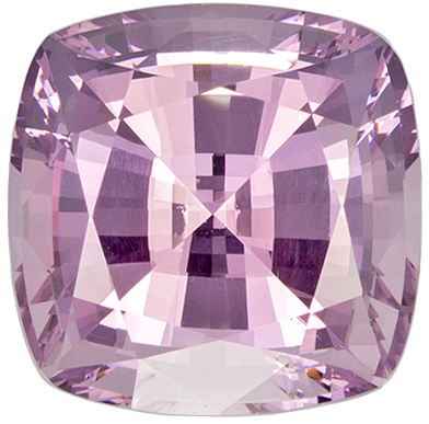 Very Pretty Pink Spinel Gemstone in Cushion Cut, Silver Tinged Baby Pink, 7 mm, 1.85 carats