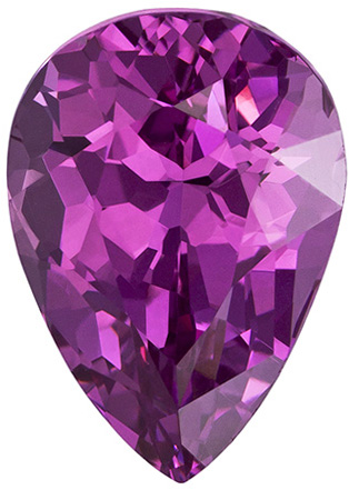 Super Eye Catching Pink Spinel Gemstone in Pear Cut, Rich Pure Pink, 11 x 7.9 mm, 3.59 carats