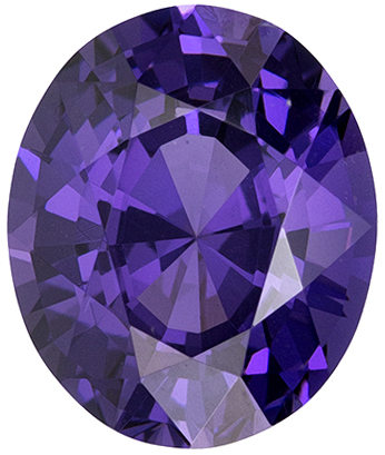 Hard to Duplicate Purple Spinel Gemstone in Oval Cut, Rich Royal Purple, 8.8 x 7.3 mm, 2.41 carats