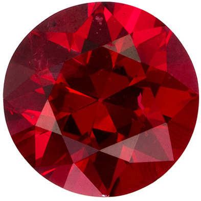 Gorgeous Red Spinel Gemstone in Round Cut, Rich Open Red, 6.1 mm, 0.94 carats