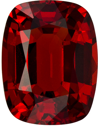 Rare & Beautiful Cushion Cut Red Spinel Loose Gem, Open Red, 7.2 x 5.5 mm, 1.2 carats