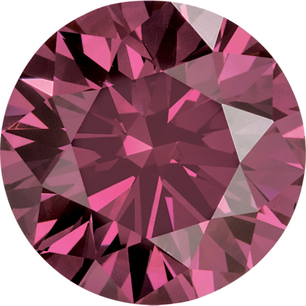 Round Pink Genuine Diamonds Enhanced