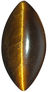 Tigers Eye Brown Marquise Cut